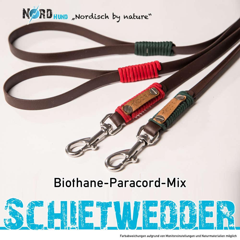 SCHIETWEDDER Biothane Leine mit Paracord - KOOIRA Manufaktur