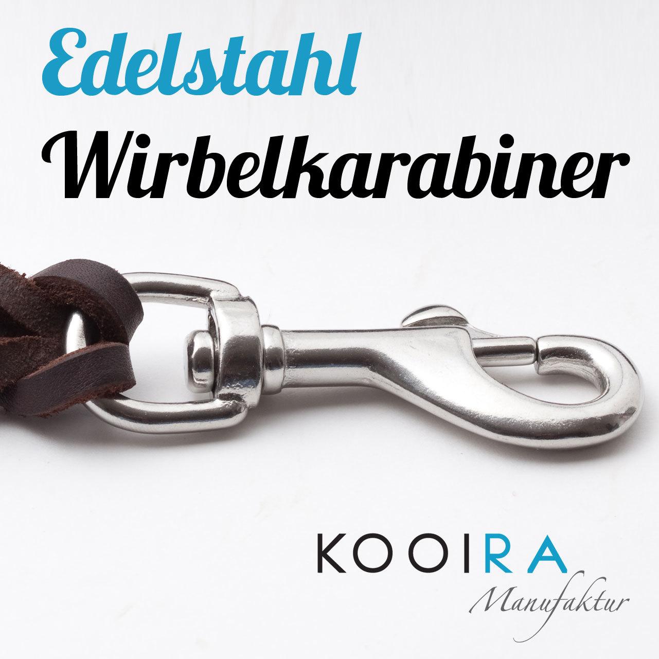 KOOIRA-Hundeleinen-Verschluss-Edelstahl-Wirbelkarabiner-Drehkarabiner