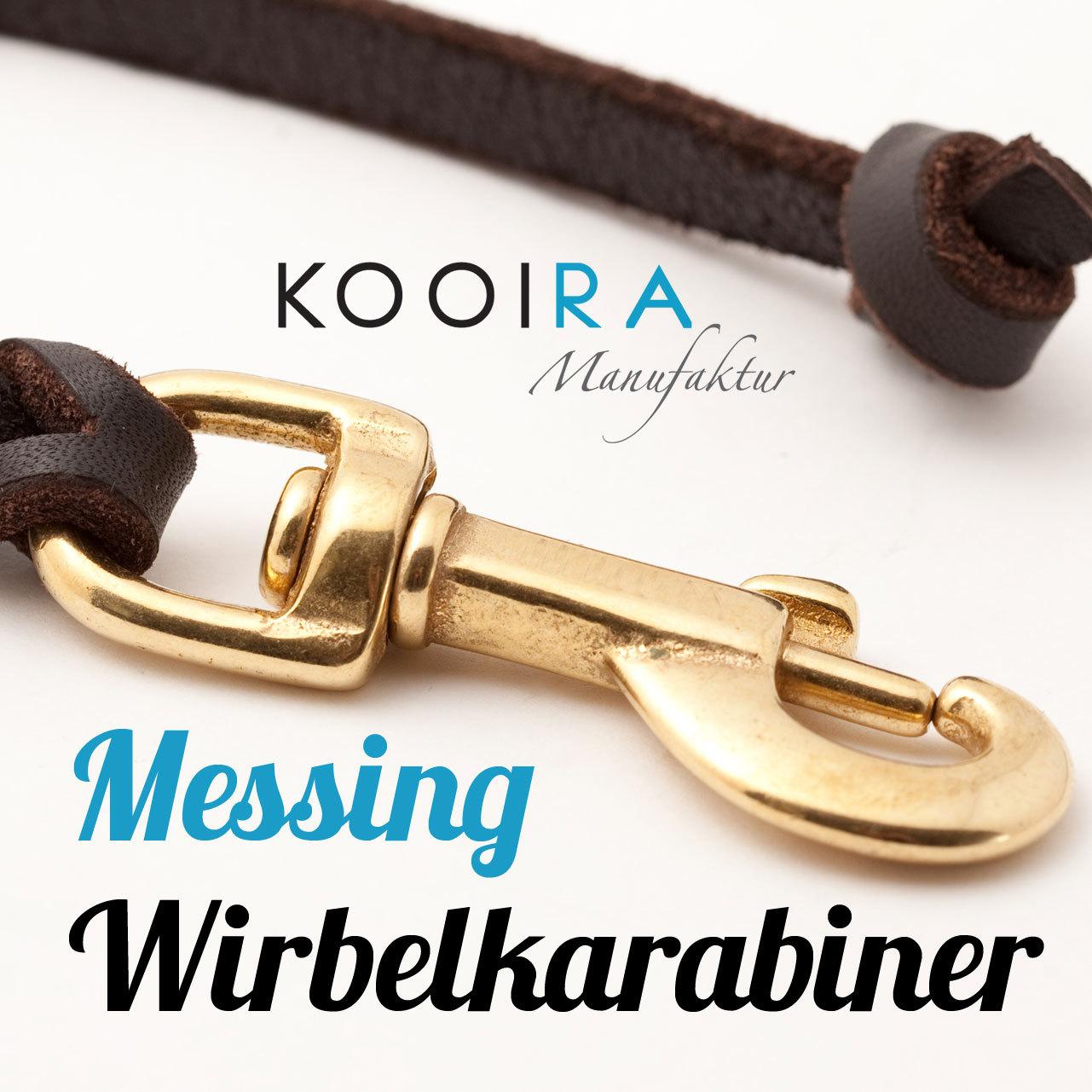 KOOIRA-Hundeleinen-Verschluss-Messing-Wirbelkarabiner-Drehkarabiner